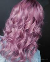 Timanttinen hiustenvärjäys (Pitkät hiukset)