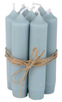 Kruunukynttilä 11cm  Light blue