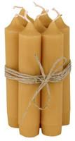 Kruunukynttilä 11 cm Mustard