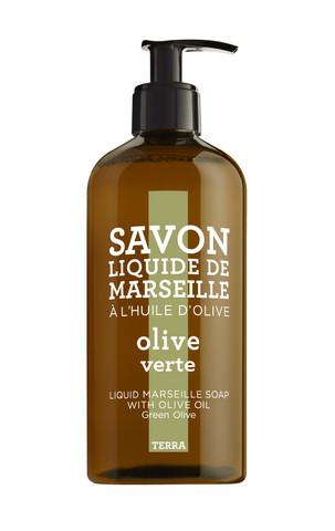 Nestemäinen marseille saippua 500ml   Vihreä oliivi