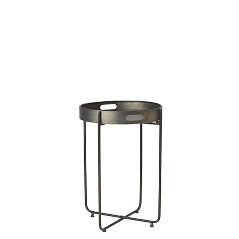 Pyöreä sivupöytä metallia