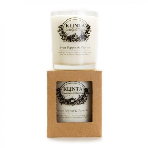 Klinta tuoksukynttilä 45h - Mustapippuri & Papyrus