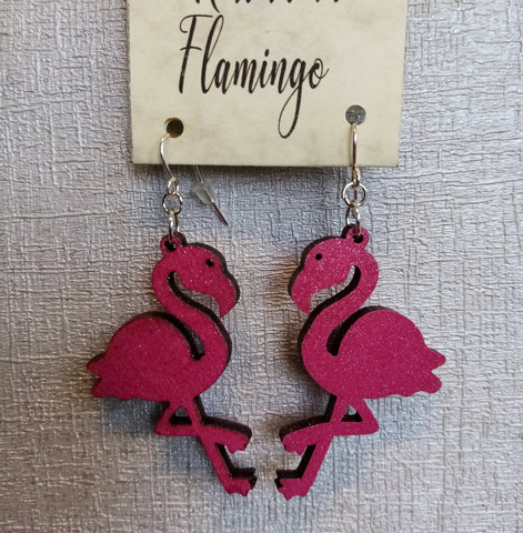 Korvakorut Flamingo Pinkki glitter