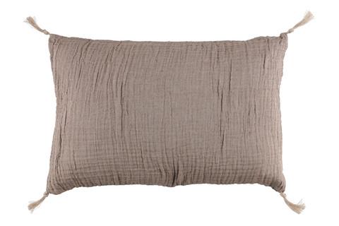 Pellavan ruskea tyyny 40x70cm