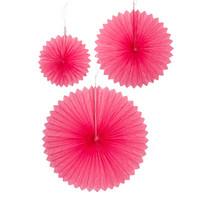 Hunajakenno paperiviukasetti 3 kpl roosa
