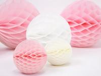 Hunajakenno paperipallo 3kpl vaaleanpunainen
