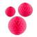 Hunajakenno paperipallo 3kpl roosa