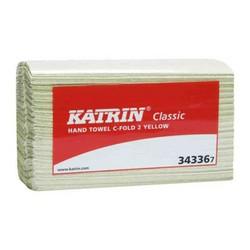 KÄSIPYYHE KELTAINEN 16 NIP KATRIN CLASSIC C-FOLD 2-KERT.