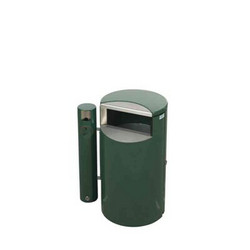 Roskakori + putkituhkakuppi 30L HELSINKI SITI vihreä