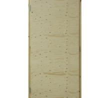 Työmaaovi Karmillinen molemmin puolin vaneroitu ja eristetty ovi, 10x21