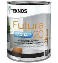 FUTURA AQUA 20 Puolihimmeä kalustemaali, 0,45L, listavalkoinen