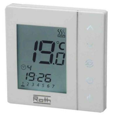 Termostaatti Roth Basicline näytöllä 230V