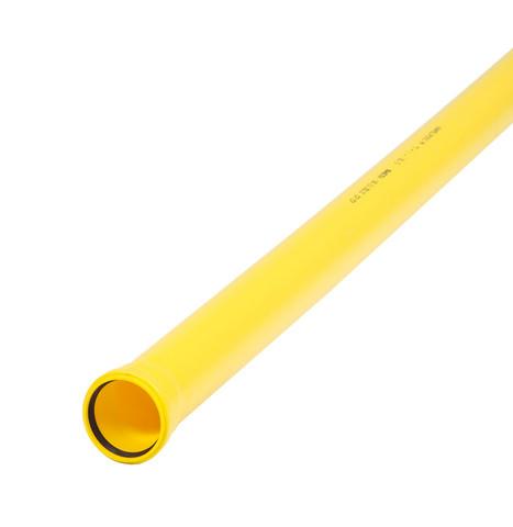 Kaapeliputki TEL B 50x6000mm keltainen, sileä