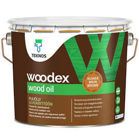 Woodex wood oil, 2,7l, Ruskea