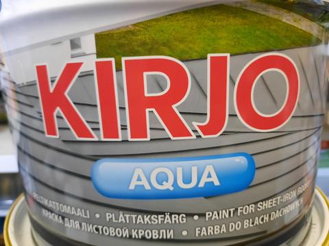 Peltikattomaali Kirjo Aqua, 10L, Punainen T2509