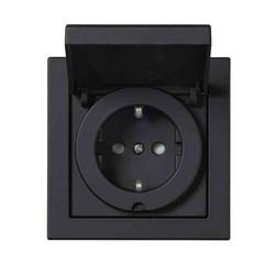 Pistorasia ABB Impressivo maadoitettu 1-osainen, upotettava IP44,musta