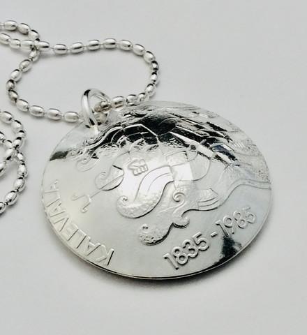 Kolikkoriipus 50 mk Kalevala 150 v 1985