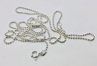 Hopeinen timanttileikattu palloketju 1.5 mm/70 cm