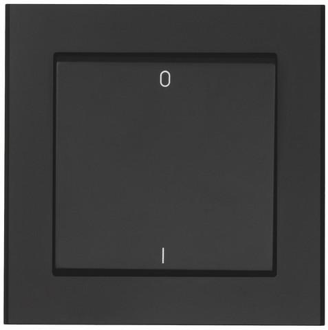 Valokytkin 2-napainen, Musta
