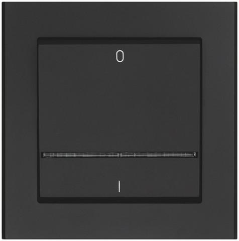Valokytkin hohtolampulla, 2-napainen, Musta