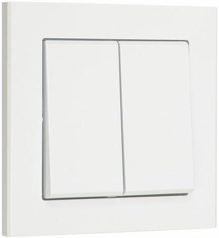 Valokytkin 2 x vaihto, valkoinen