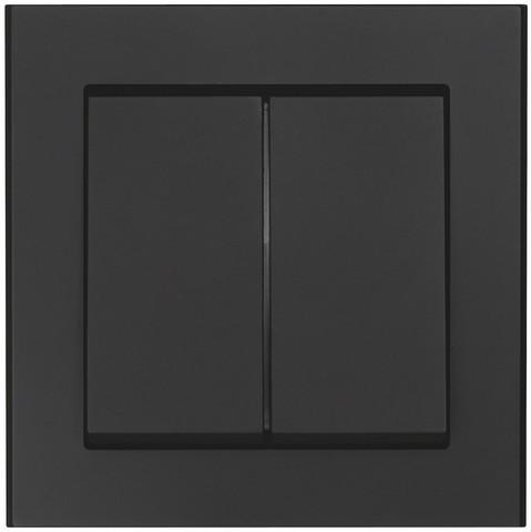 Valokytkin 2 x vaihto, Musta