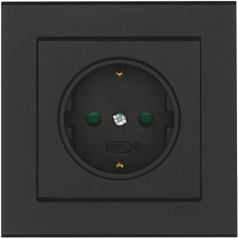 Musta Pistorasia Optima, 1-osainen, maadoitettu