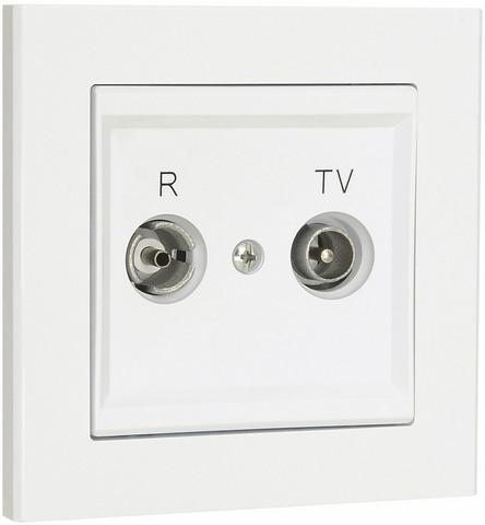 Antennipistorasia, TV / Radio optima, 75 Ohm, Valkoinen