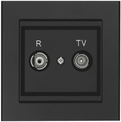 Antennipistorasia, TV / Radio optima, 75 Ohm, musta, Läpimenevä