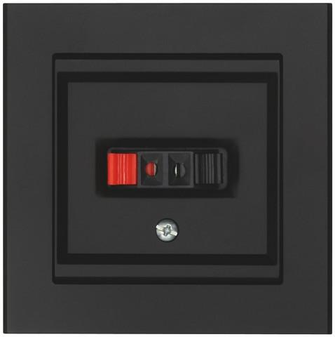 Kaiutinpistorasia Optima musta 1-osainen
