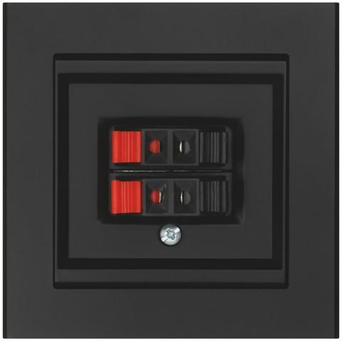 Kaiutinpistorasia Optima musta 2-osainen