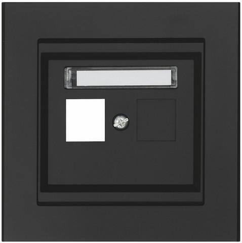 Keskiölevy Keystone, Suora, 1-osainen, Musta