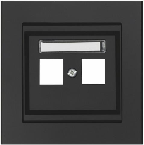 Keskiölevy Keystone, Suora, 2-osainen, Musta