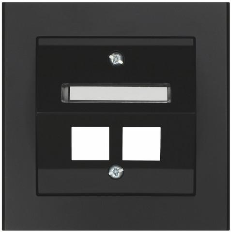 Keskiölevy Keystone, Kulma, 2-osainen, Musta