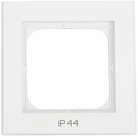 Yhdistelmäpeitelevy Optima, 1-osainen, Tekstillä: IP44, Valkoinen