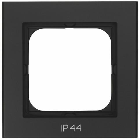 Yhdistelmäpeitelevy Optima, 1-osainen, Tekstillä: IP44, Musta