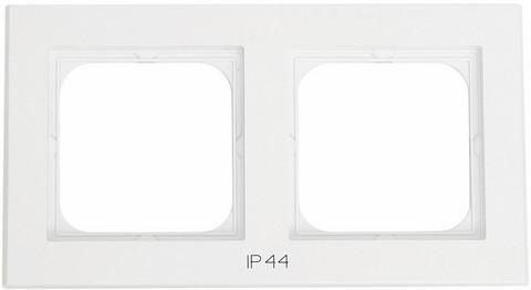 Yhdistelmäpeitelevy Optima, 2-osainen, Tekstillä: IP44, Valkoinen
