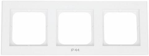 Yhdistelmäpeitelevy Optima, 3-osainen, Tekstillä: IP44, Valkoinen