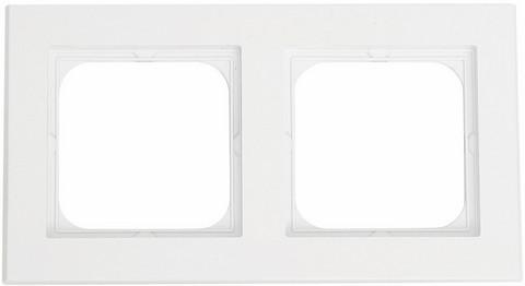 Yhdistelmäpeitelevy Optima, 2-osainen, Valkoinen