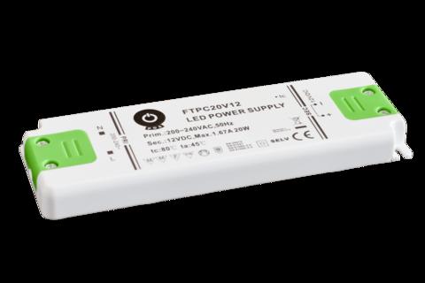 LED muuntaja 12V tai 24V tasajännite, teho 20W