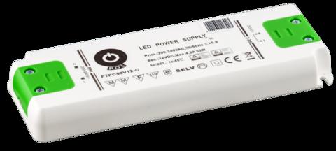 LED muuntaja 12V tai 24V tasajännite, teho 50W