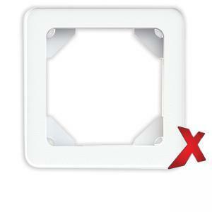 DesignX 1-osainen valkoinen peitelevy