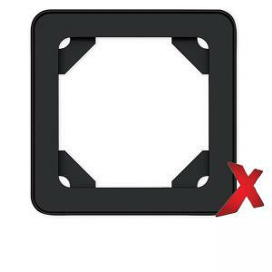 DesignX 1-osainen musta peitelevy