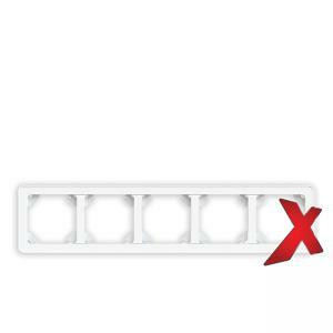 DesignX 5-osainen valkoinen yhdistelmäpeitelevy