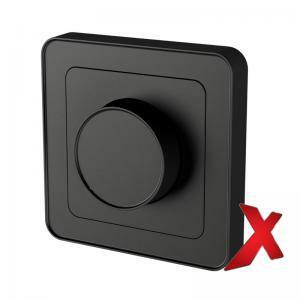 Valonsäädin DesignX UNI 4-400W RLC Musta