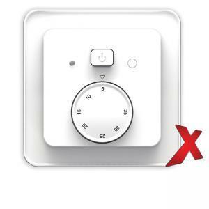 Yhdistelmätermostaatti DesignX valkoinen