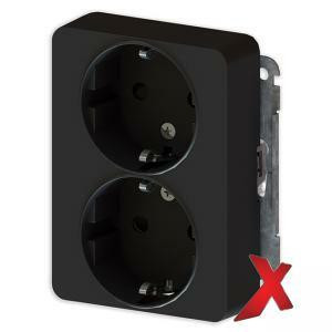 Pistorasia DesignX musta 2-osainen