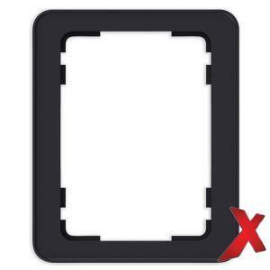 DesignX 1-osainen Peitelevy 2S Musta