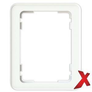 DesignX 1-osainen Peitelevy 2S Valkoinen