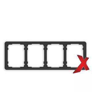 DesignX 4-osainen Peitelevy 2S Musta